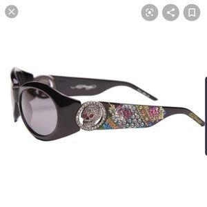 Ed Hardy Black King Sunglasses